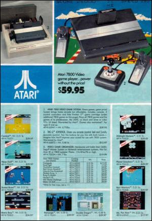 Atari 7800 Print Advert - Courtesy of AtariAge.com